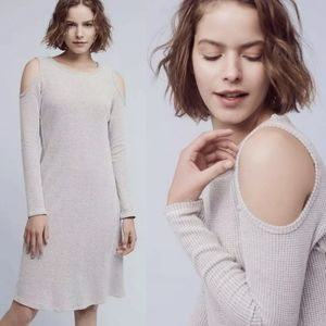Anthropologie Textured Knit Open Shoulder Dress
